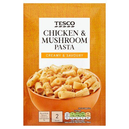 Tesco Pasta Chicken & Mushroom Sauce 120g