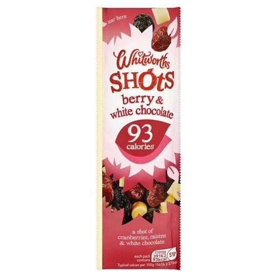 Whitworths Berry White Chocolate Shot 25g