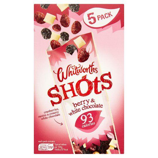 Whitworths Shots Berry& White Chocolate 5X25g