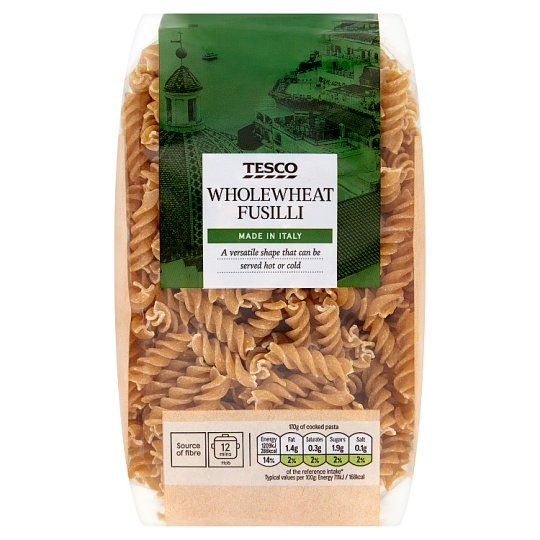 Tesco Whole Wheat Fusilli Pasta 500g