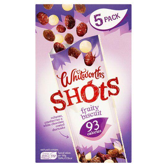 Whitworths Shot Fruity Biscuit 5X25g