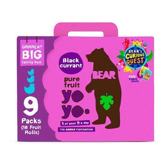 Bear Yoyo Blackcurrant 9 Pack 180g