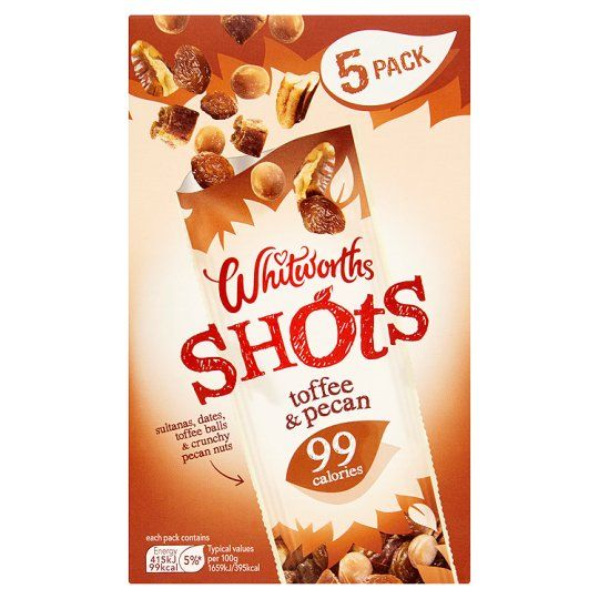 Whitworths Toffee Pecan 5X25g Shot