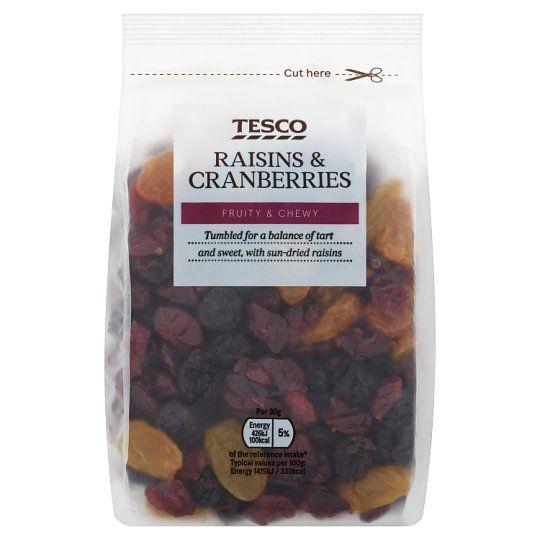 Tesco Raisins & Cranberry Mix 300g