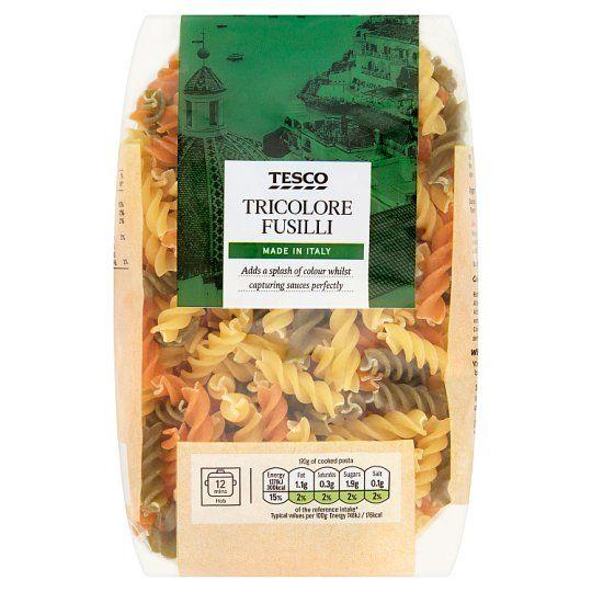 Tesco Tricolore Fusilli Pasta Twists 500g