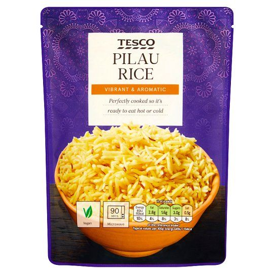 Tesco Microwave Pilau Rice 250g