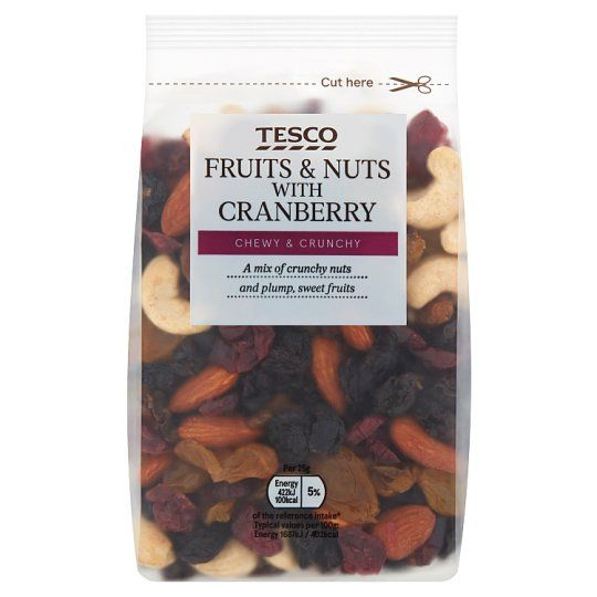 Tesco Fruit & Nut Mix With Cranberry 300g
