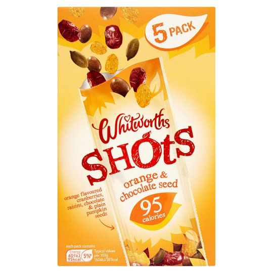 Whitworths Shot Orange and Chocolate Seed 5X25g