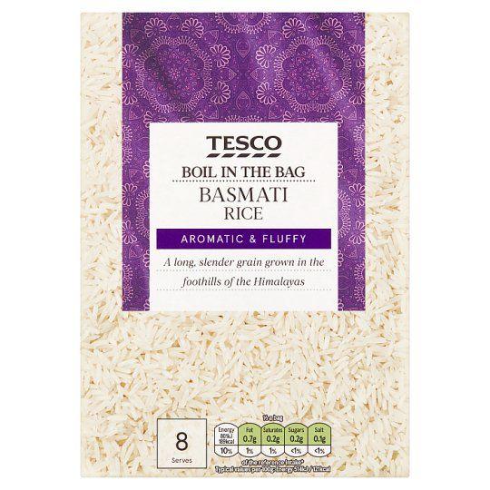 Tesco Boil In The Bag Basmati Rice 4 X 125g