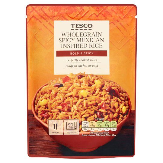 Tesco Microwave Mexican Style Brown Rice 250g