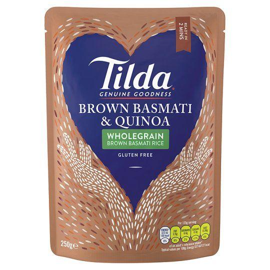 Tilda Brown Basmati & Quinoa Steamed Rice 250g