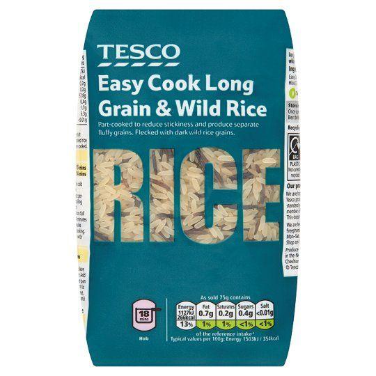 Tesco Easy Cook Long Grain and Wild Rice 500g