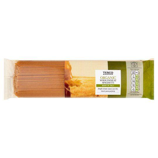 Tesco Organic Whole Wheat Spaghetti Pasta 500g