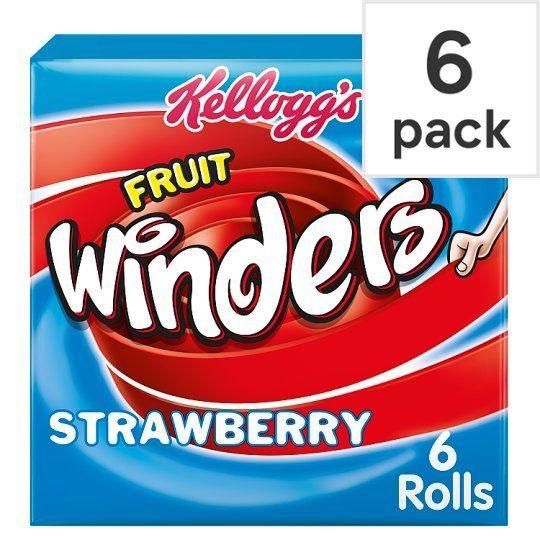 Kellogg's Duo Fruit Winders Strawberry 6 Pack 102g