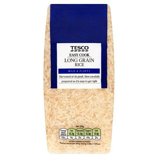 Tesco Easy Cook Long Grain Rice 500g