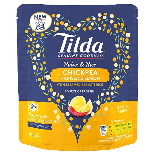 Tilda Pulses and Rice Chick Pea 140g