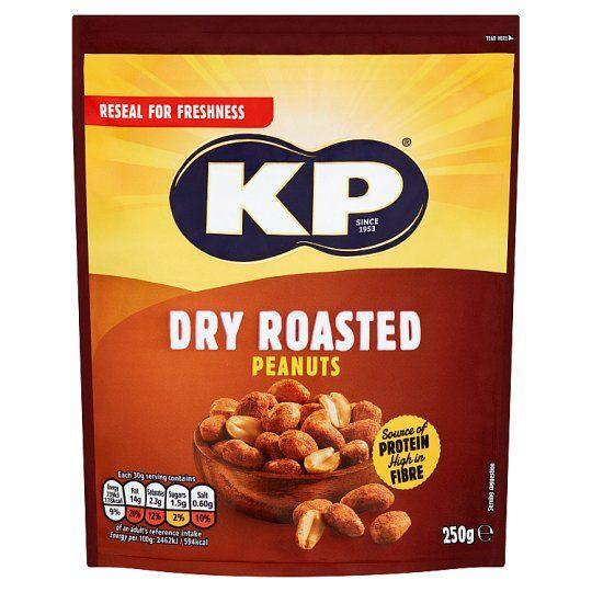Kp Dry Roasted Peanuts 250g