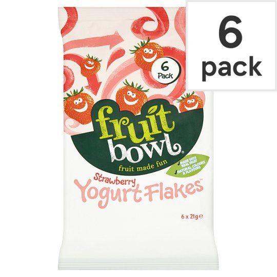 Fruit Bowl Strawberry Yogurt Flakes 6 Pack 126g