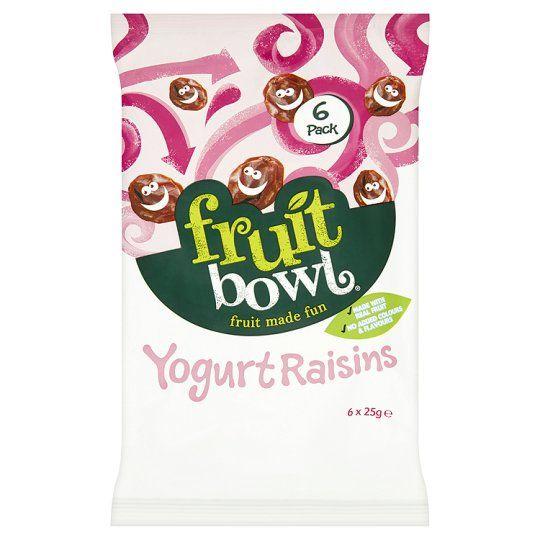 Fruit Bowl Yogurt Raisins 6 X 25g