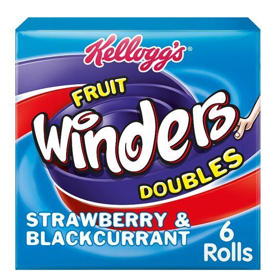 Kellogg's Duo Fruit Winders Strawberry & Blackcurrant 102g
