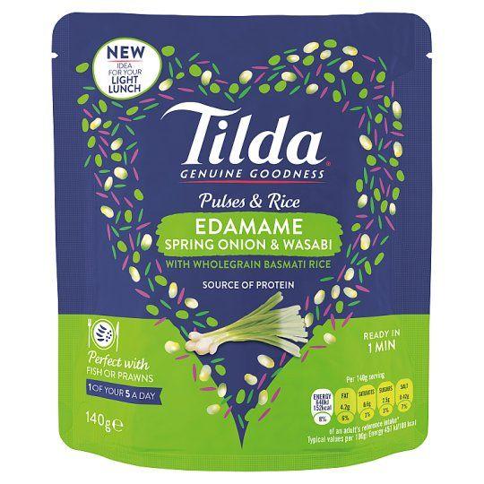 Tilda Pulses and Rice Edamame 140g