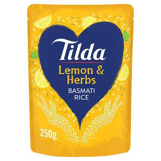 Tilda Lemon and Herb Steamed Basmati Rice 250g