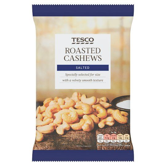 Tesco Roasted Salted Cashew Nuts 350