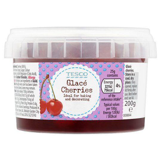 Tesco Glace Cherries 200g