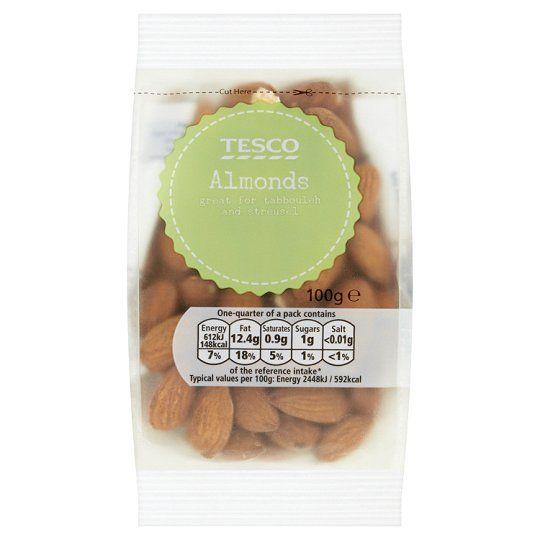 Tesco Whole Sweet Almonds 100g