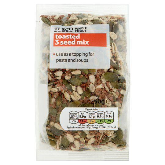 Tesco Wholefoods Toasted 3 Seed Mix 250g