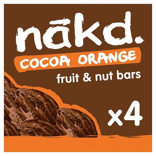 Nakd Cocoa Orange Bars 4 Pack 140g