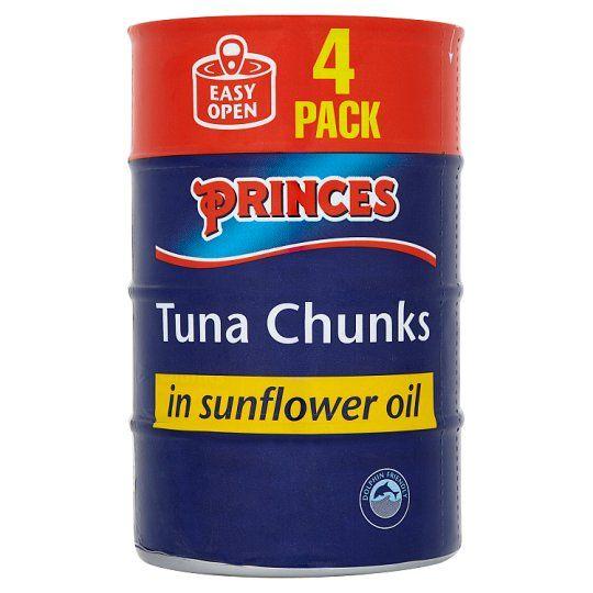 Princes Tuna Chunks In Sunflower Oil 4X145g