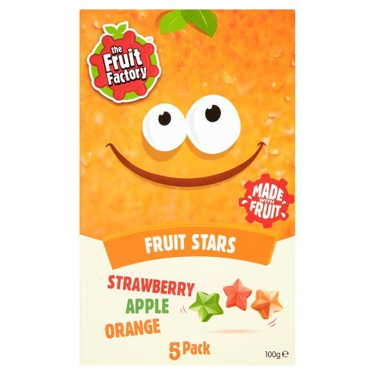 Fruit Factory Multi Fruit Stars 5 Pack 100g