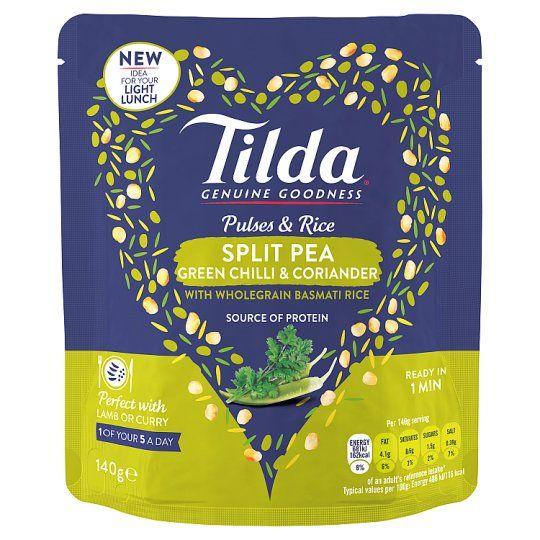 Tilda Pulses and Rice Split Pea Chilli 140g