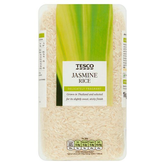 Tesco Jasmine Long Grain Rice 1kg