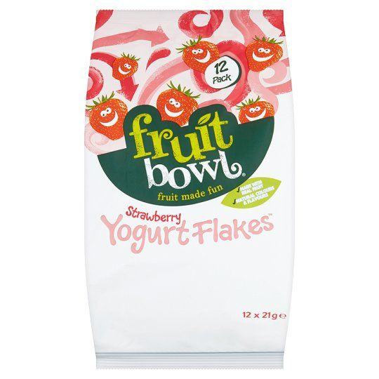 Fruit Bowl Strawberry Yogurt Flakes 12 X 21g