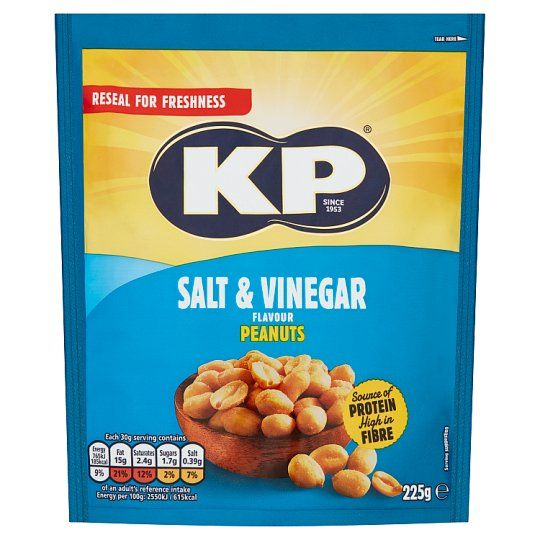 Kp Salt and Vinegar Peanuts 225g