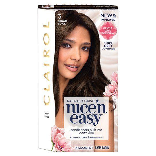 Clairol Nice & Easy Brown Black 3 Hair Dye