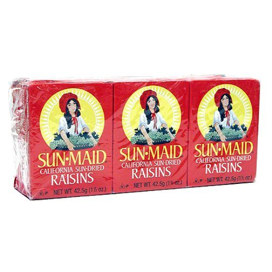 Sunmaid Raisin Snacks 6 X 42.5g