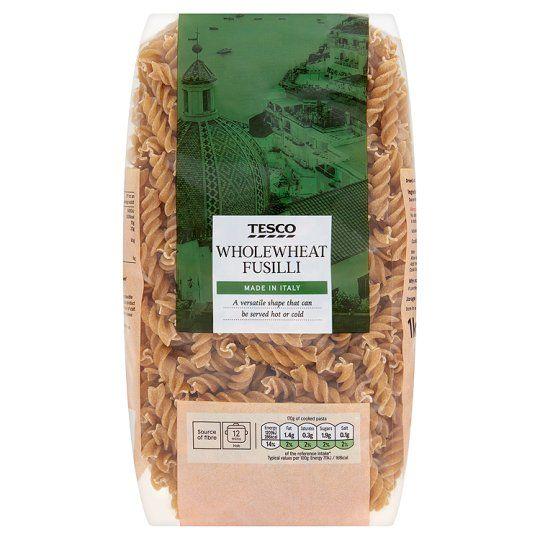 Tesco Fusilli Whole Wheat Pasta 1kg
