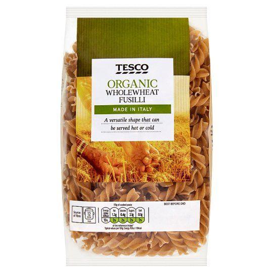 Tesco Organic Whole Wheat Fusilli 500g
