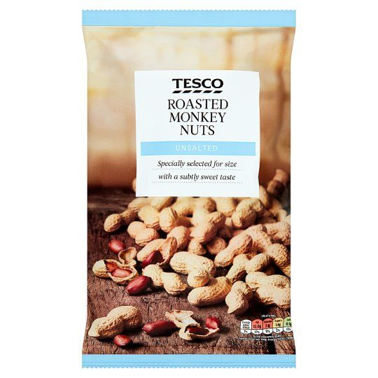 Tesco Unsalted Roasted Monkey Nuts 300g