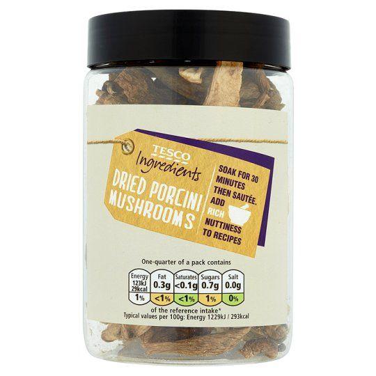 Tesco Ingredient Dried Porcini Mushrooms 40g