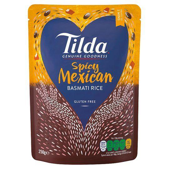 Tilda Spicy Mexican Steamed Basmati Rice 250g