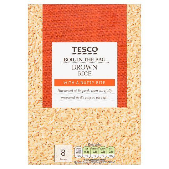 Tesco Easy Cook Boil In Bag Brown Rice 4 X 125g