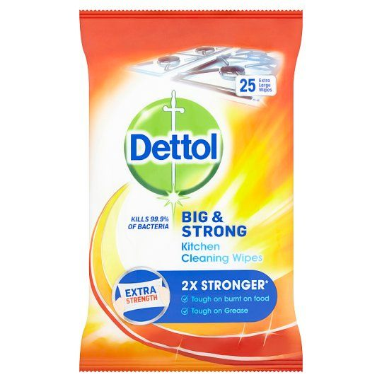 Dettol Big and Strong Kitchen Wipes 25S