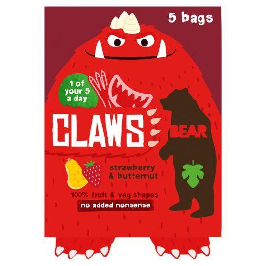 Bear Claws Strawberry Butternut 5X18g