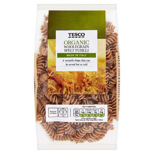Tesco Organic Whole Wheat Spelt Fusil Pasta 250g