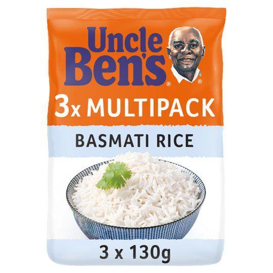 Uncle Bens Microwave Basmati Rice 3 X 130g