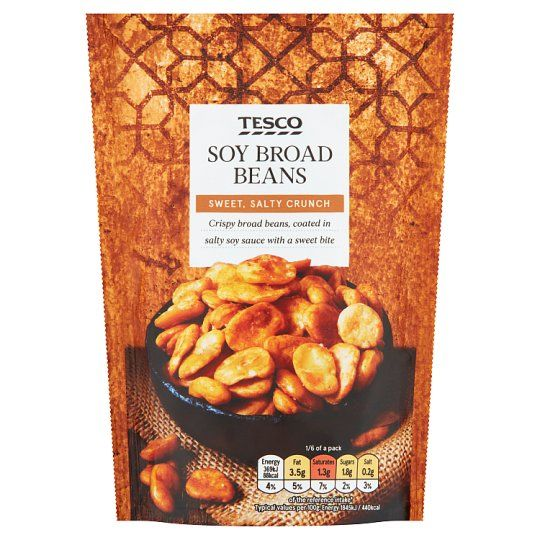 Tesco Broad Beans Snacks Bag 120g